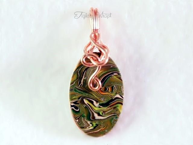 """""""Acid Camo"""" Pendant (Copper Wire)"""
