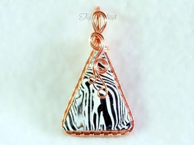"""""""Acid Zebra"""" Pendant (Copper Wire)"""
