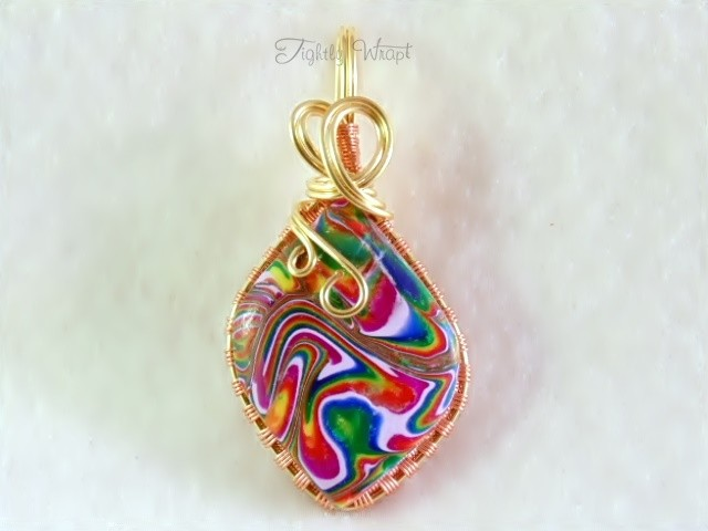 """""""Acid Rainbow"""" Pendant (Brass and Copper Wire)"""