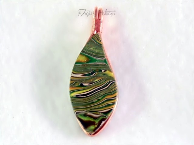"""Acid Camo"" Pendant (Unisex, Copper Wire)"