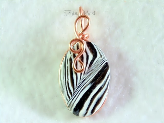 """Acid Zebra"" Pendant (Copper Wire)"