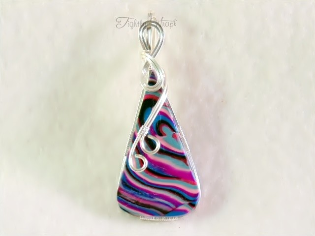 """Acid"" Pendant (Sterling Silver-filled Wire)"