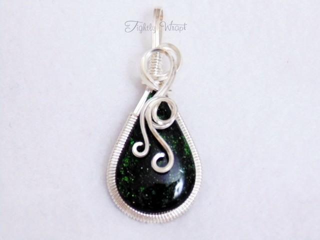 Green Goldstone Pendant
