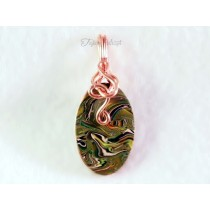 """Acid Camo"" Pendant (Copper Wire)"