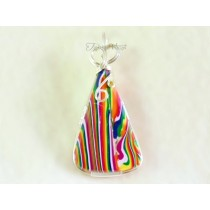 """Acid Rainbow"" Pendant (Sterling Silver-filled Wire)"