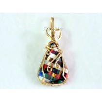 """Plaid"" Thomsite Pendant"