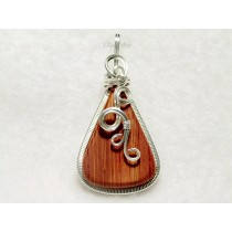 Yellow and Red Striped Thomsite Pendant