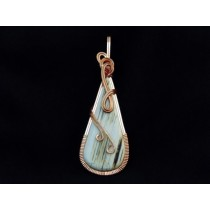 "Teardrop White ""Thomsite"" Pendant"