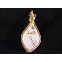 Large White Thomsite Pendant