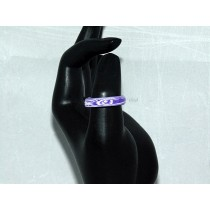 Purple and White Thomsite Ring (Size 8 1/2)