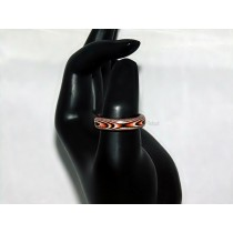 Black, Orange, and White Thomsite Ring (Size 9)