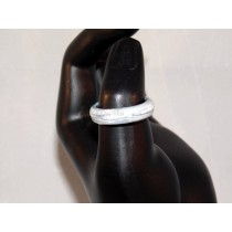 Gray and White Thomsite Ring (Size 8 1/2)