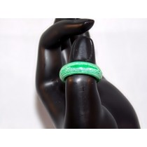 Green and White Thomsite Ring (Size 8)