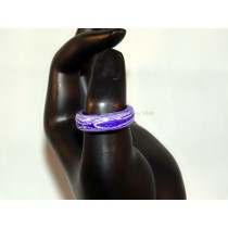 Purple and White Thomsite Ring (Size 9)