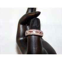 Brown and White Thomsite Ring (Size 7 1/2)
